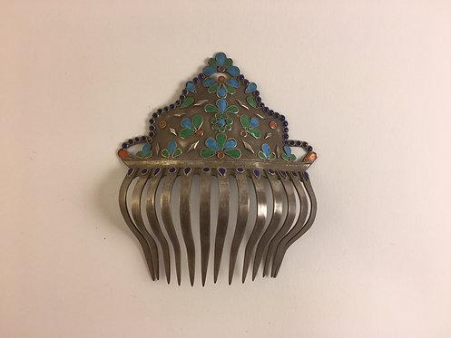Bun Hair Ottoman Harem Silver Comb