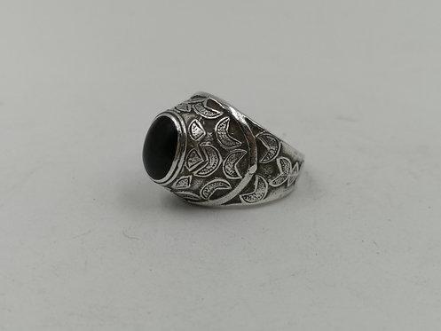 Afghan onyx silver ring