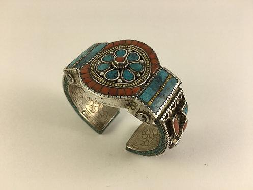 Tibetan Nepalese Silver Bracelet