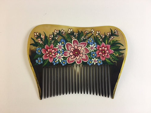 Hand Painted Contemporary Turkish Comb