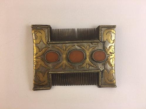 Turcoman Teke Tribal Silver Comb