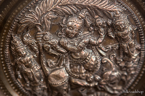 Indian Silver Wall Plate