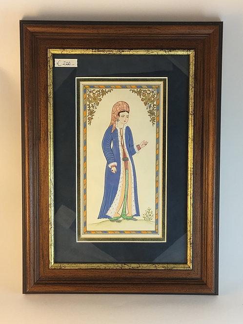 Ottoman Woman Miniature Painting