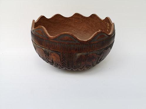 Kenyan gourd bowl
