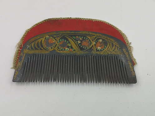 Ottoman beard comb with pouch