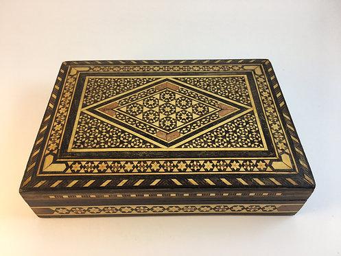 Ottoman Marquetry Bone Inlaid Box