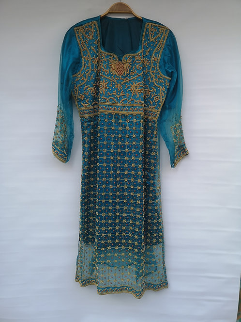 Indian silver thread dress