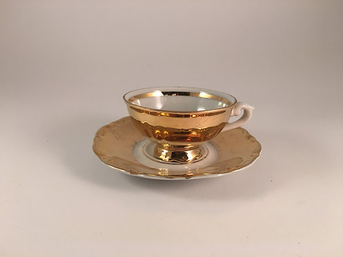 24K Gold Porcelain Coffee Cup