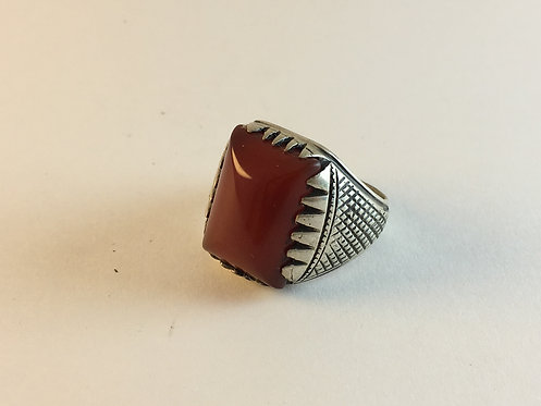 Iranian Old Agate Hand Made Silver Ring