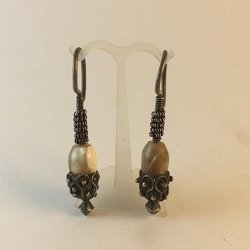 Antique Afghan 925k Silver Earring set