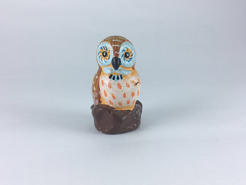 Mini Painted Ceramic Owl