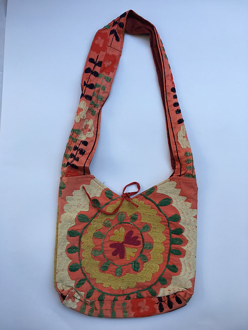 Red Suzani Embroidery Shoulder Bag