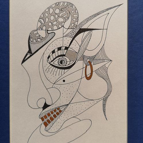 Golden teeth metal brain woman 5
