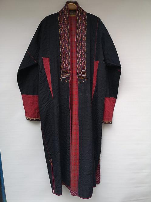 Turcoman black silk khaftan