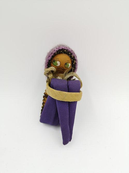 Mini sitting doll