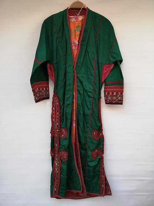 Turcoman Green silk khaftan