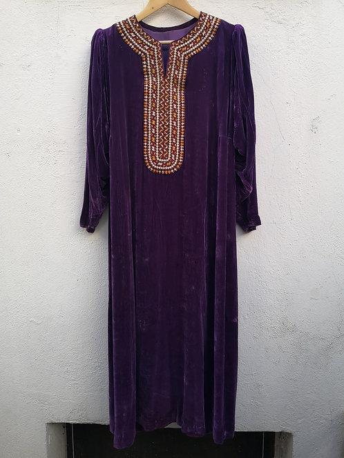 Turcoman velvet dress