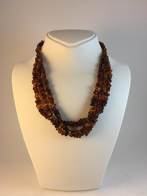 Natural Fossil Amber Necklace