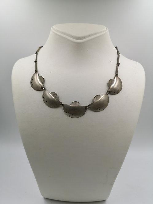 Modern Art Turkish Silver Necklace