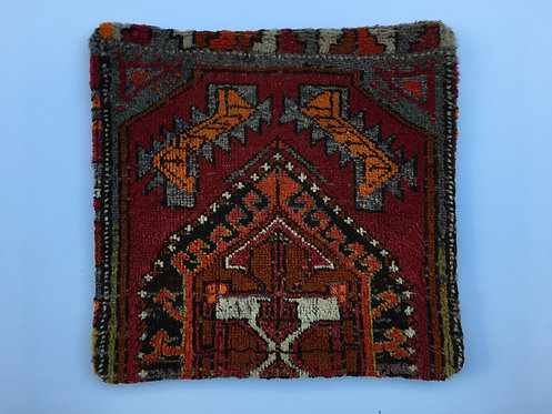Old Turkish Carpet Cushion