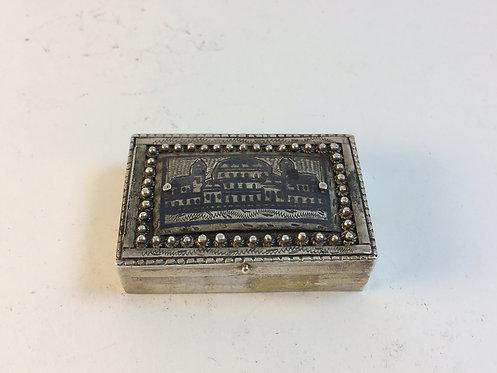 Ottoman Niellow Top Silver Box