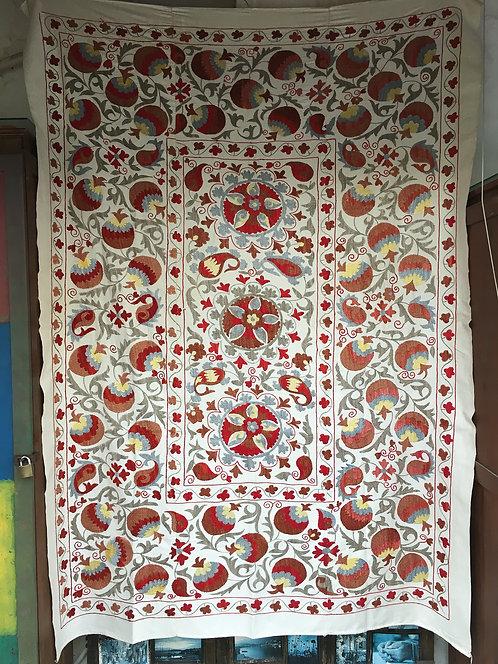 Silk Cotton Mix Hand Embroidered Suzani