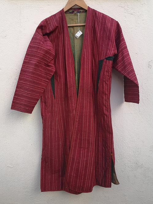 Turcoman red silk khaftan