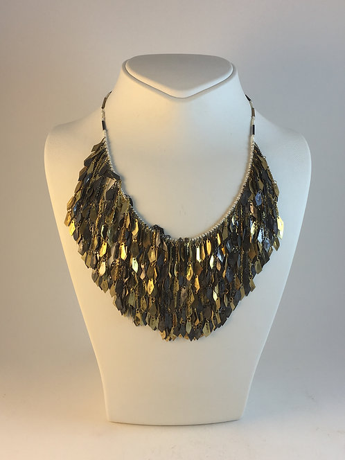 Silver Gold Leaf Neacklace