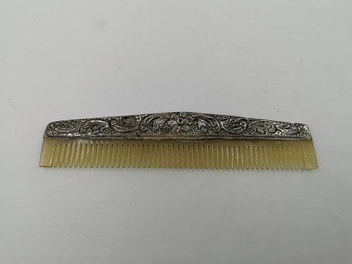 Wedding bridegrooms silver comb