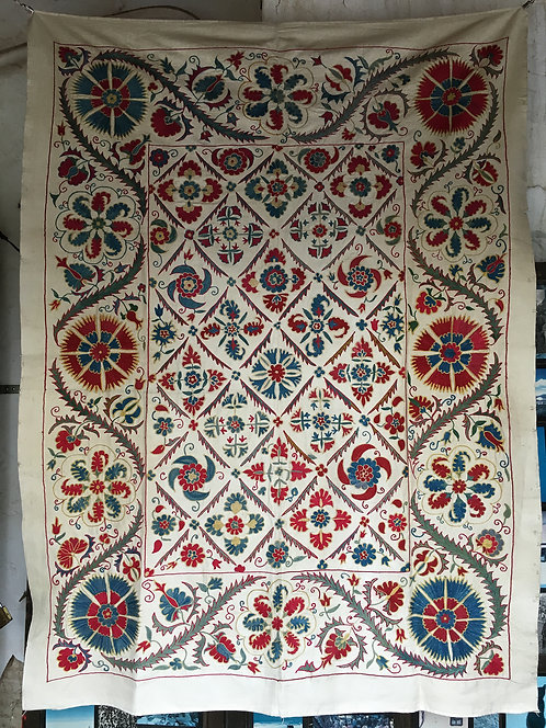 Bochara Silk Hand Embroidered Fine Crochet Work Suzani