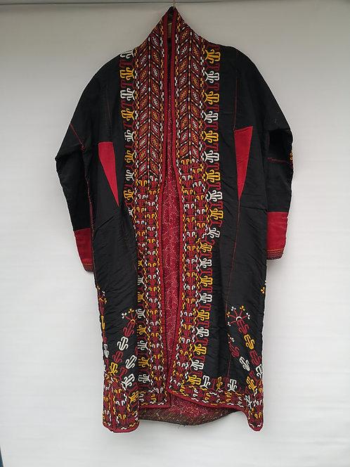 Turcoman women's Black silk khaftan