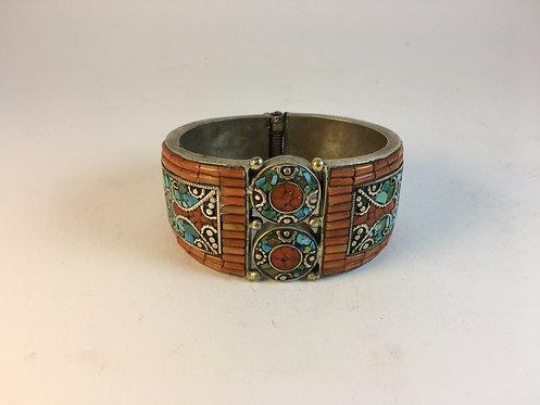 Tibetan Turquoise Coral Bracelet