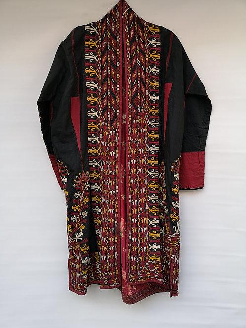 Turcoman silk black wedding dress