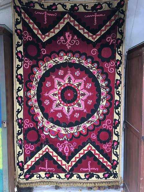 Tashkent Full Embroidery Antique Silk Suzani