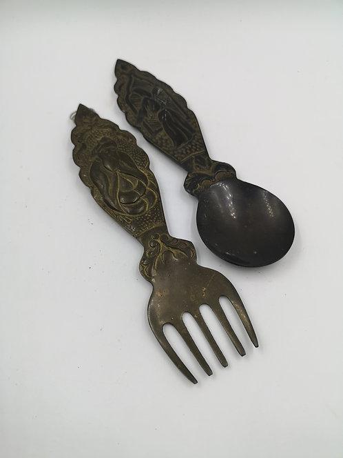 1960s Copper Mevlana fork&spoon