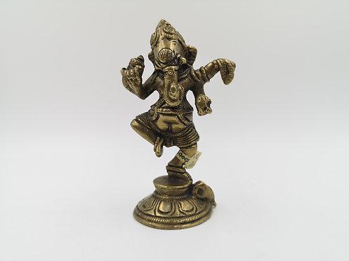 Brass Ganesha old figurine