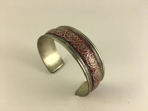 Indian Rajastan White Metal Bracelet