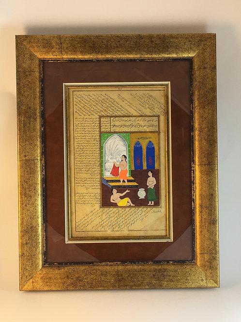 Ottoman Women's Hamam Miniature Painting