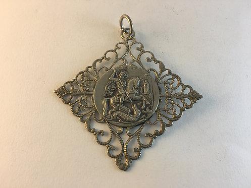 Catholic Low Silver Pendant