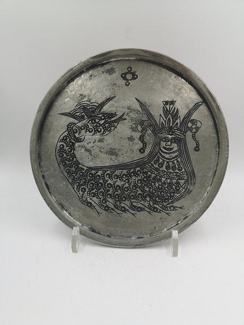 Old Shahmaran edging on a copper plate