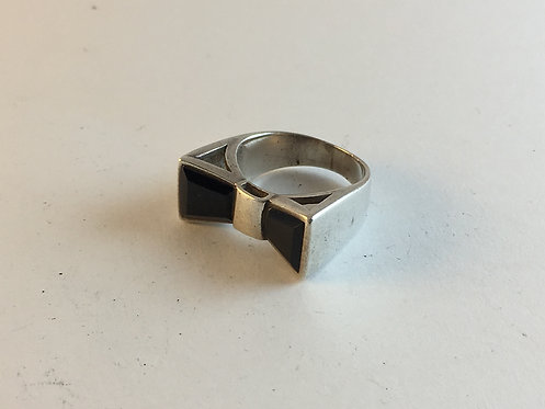Turkish Silver Onyx Hand Made Ring
