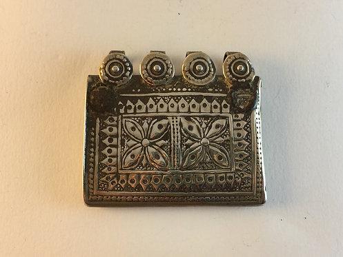 Old Afghan Uzbek Silver Amulet