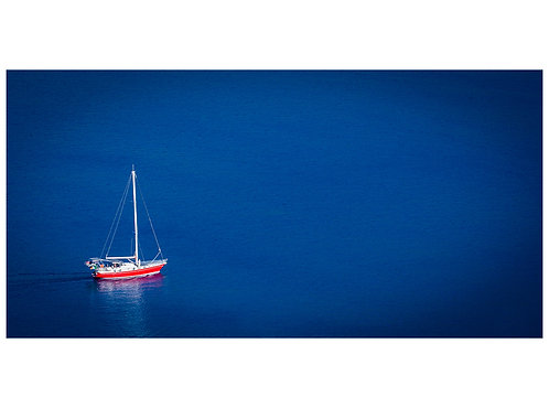 Blue Voyage Red Yacht
