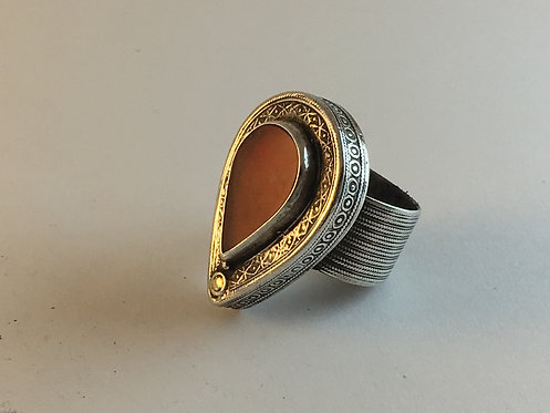 Turcoman Agate Silver Ring