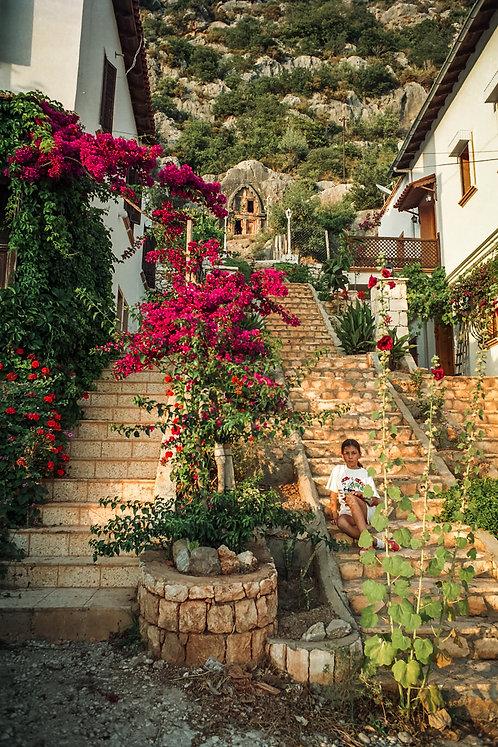 "Postcard ""Kaş, Lycian Stairs"""
