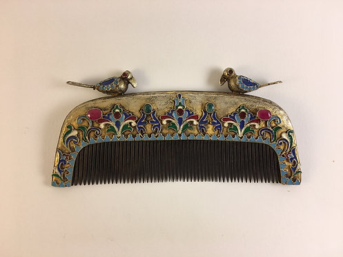 Bouckhara Silver&Enamel Comb