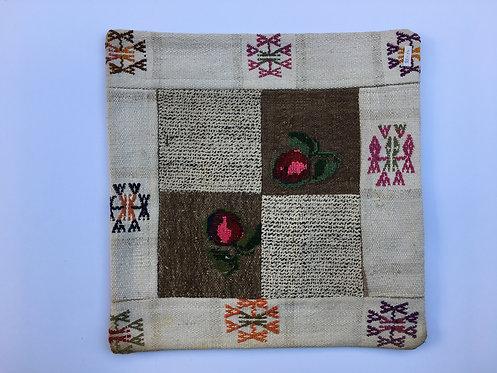 Old Turkish Kilim Patchwork Cushion