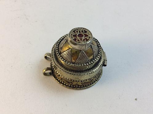 Afghan Silver Pendant Box