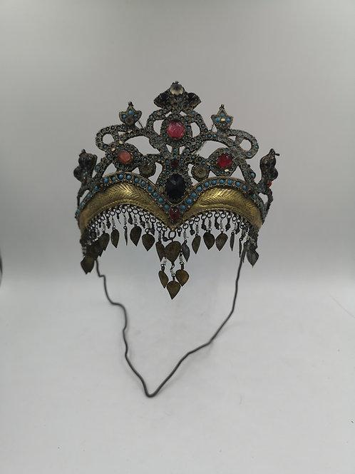 Uzbek 1820s silver wedding crown