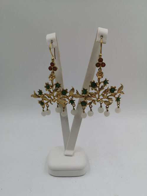 Gold plated Bronze Earrings